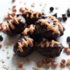 Healthy Football Truffles (Chocolate Covered Peanut Butter Bites - Superbowl LI)