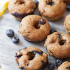 Healthy Lemon Blueberry Donuts