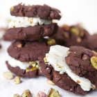 Chocolate Pistachio Ice Cream Sandwiches