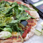 Green Grilled Pizza