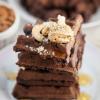 chocolate mocha waffles