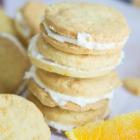 Orange Shortbread Sandwich Cookies