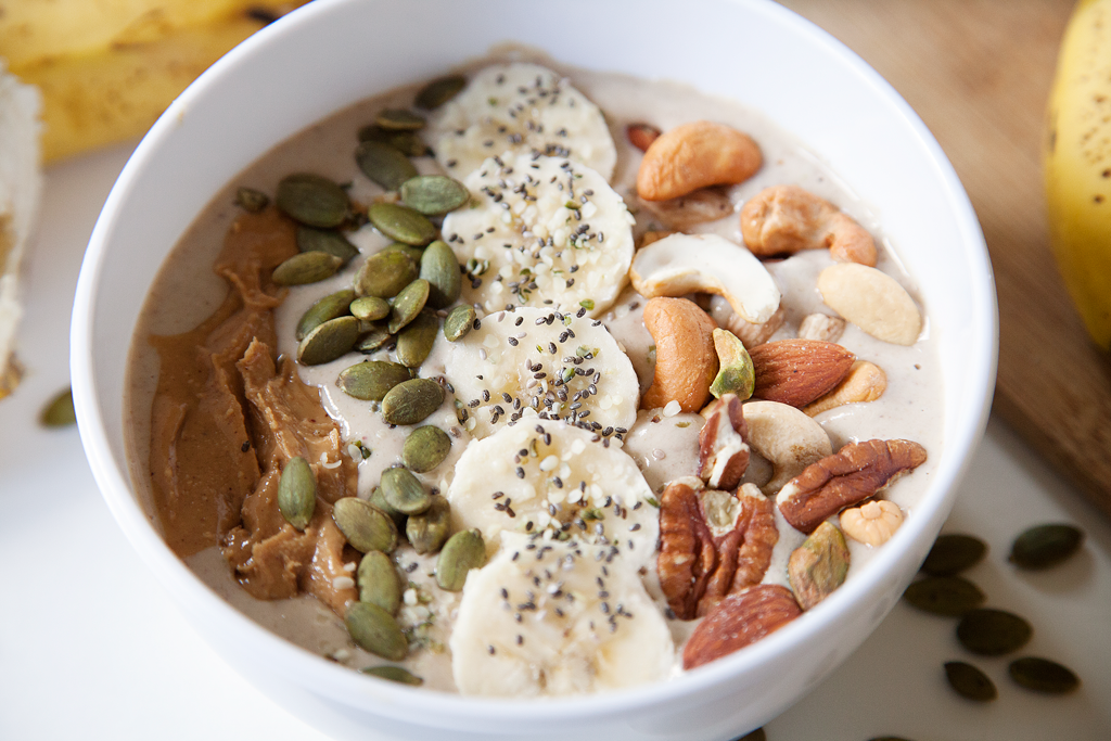 Nutty Banana Smoothie Bowl | My Southern Sweet Tooth