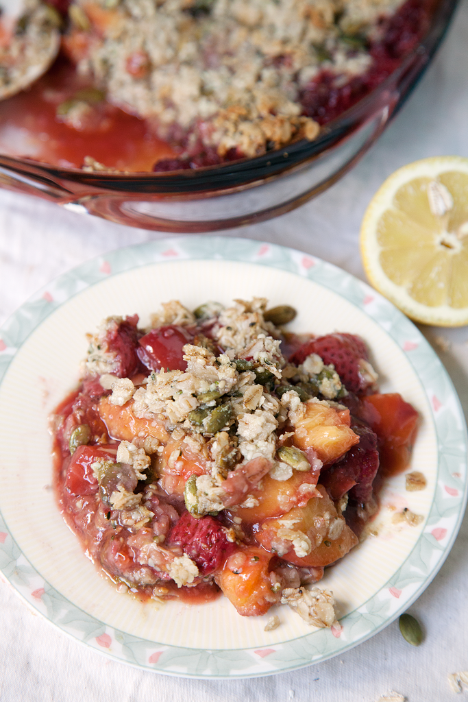 Strawberry Peach Crumble - My Southern Sweet Tooth