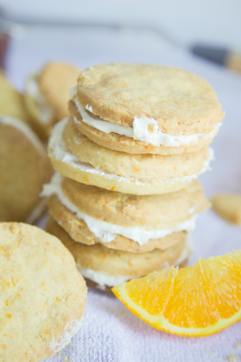 Orange Shortbread Cookie Sandwiches - MSST